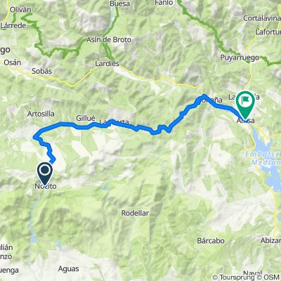Cycle touring. Tour Sierra de Guara. Stage 4