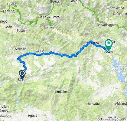 Cycle touring. Tour Sierra de Guara. Stage 4