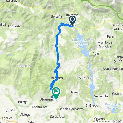Cycle touring. Tour Sierra de Guara. Stage 5