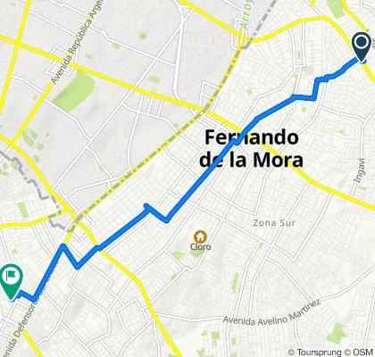 De Waldino Lovera 2978y, Fernando de la Mora a Gaspar R. de Francia, Lambaré