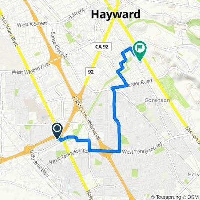 2248 Tallahassee St, Hayward to 25441 Mission Blvd, Hayward