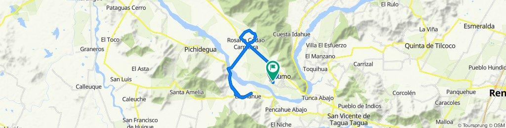 Ruta desde 754 - Arboleda 2–280, Peumo