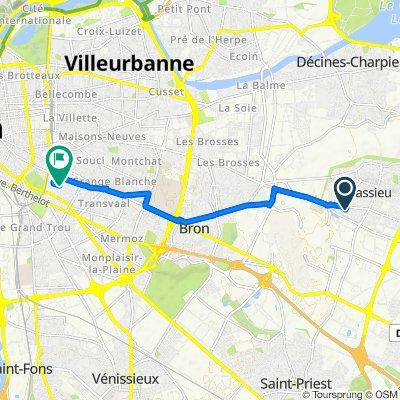 De 8 Impasse Montesquieu, Chassieu à 4 Rue Saint-Nestor, Lyon