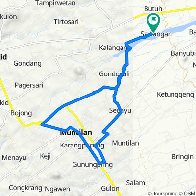 Unnamed Road, Sawangan to Unnamed Road, Sawangan