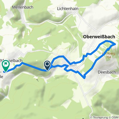 Sonnenweg, Cursdorf nach Kuppenstraße 12, Meuselbach-Schwarzmühle