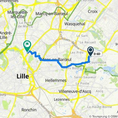 De 28 Allée des Cousins, Villeneuve-d'Ascq à 8 Avenue Simone, La Madeleine