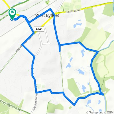 Tioman, Old Ave, West Byfleet to Thatched Cottage, Old Ave, West Byfleet