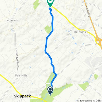 Route to 430 Belle Ln, Harleysville