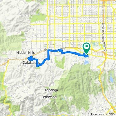 17428 Tarzana St, Los Angeles to 17429 Tarzana St, Los Angeles