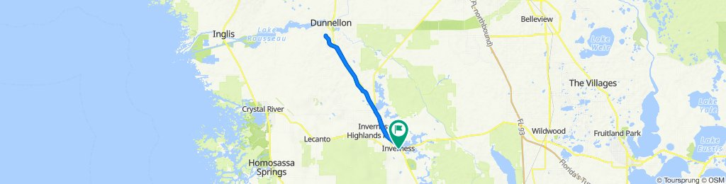 204 E Dampier St, Inverness to 100 Dr Martin Luther King Jr Ave, Inverness