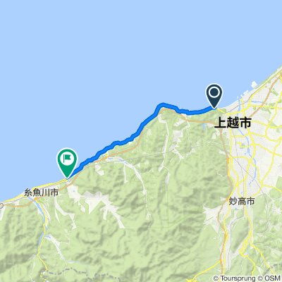 国道8号, Joetsu to 519, Nakashuku, Itoigawa