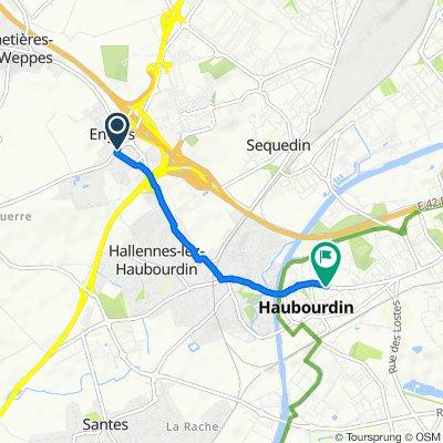 De 2 Rue des Fusillés, Englos à 95 Rue Sadi Carnot, Haubourdin