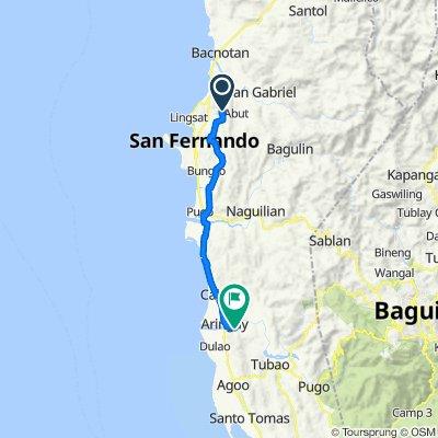 Unnamed Road, San Juan to San Juan - Aringay Road