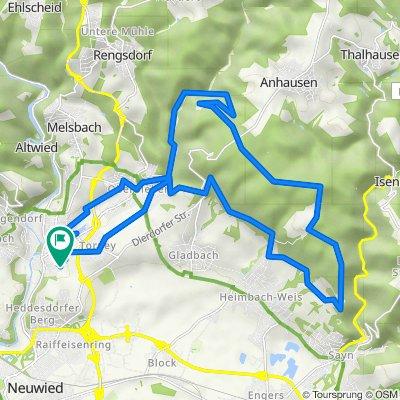 Braunsburg-Golfclub-Bismarckhöhen-Runde 30km MTB