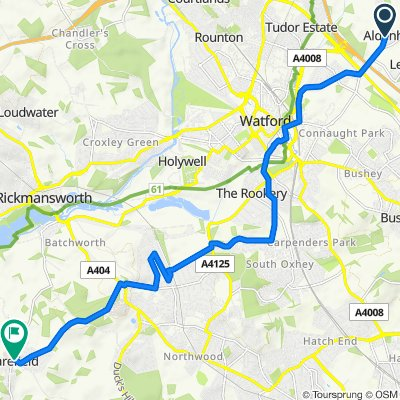 3, Church Farm Cottages, Church Lane, Watford to 9 The Poplars, Breakspear Road N, Uxbridge