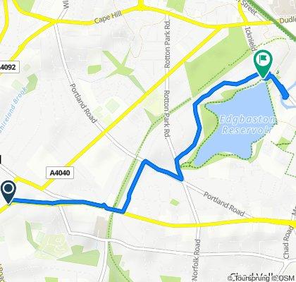 457 Hagley Road, Smethwick to 114 Icknield Port Road, Birmingham