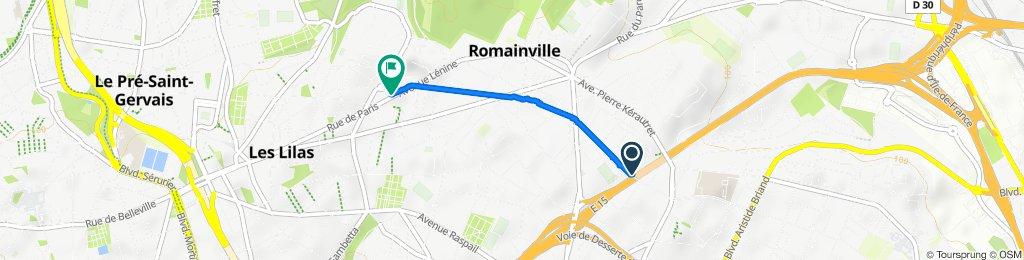 De 55 Rue Jean Lemoine, Romainville à 213 Rue de Paris, Les Lilas