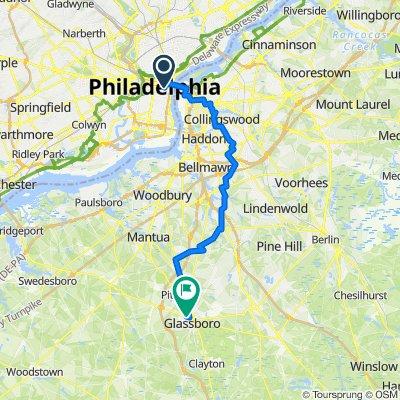 Philadelphia to Sidney Campbell Library (Glassboro, NJ)