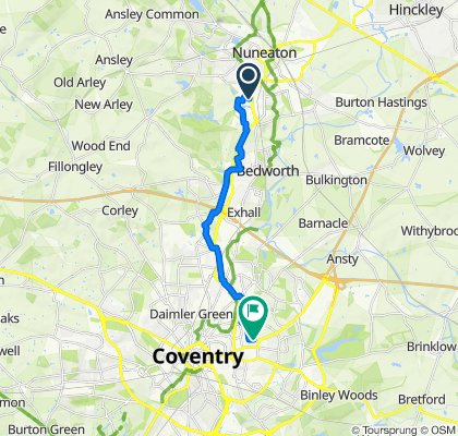 36 The Bridleway, Nuneaton to 112 Dane Road, Coventry
