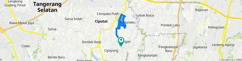 Jalan Bukit I B4 10A, Kecamatan Ciputat Timur to Jalan Bukit I C1, Kecamatan Ciputat Timur