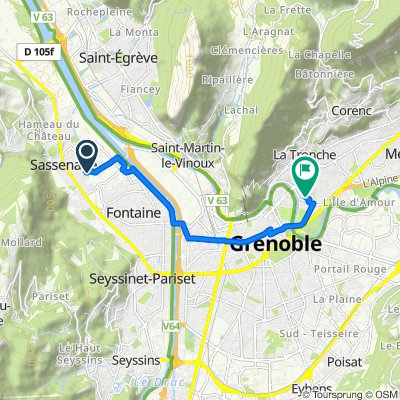 Itinéraire à partir de 3E Chemin du Vinay, Sassenage