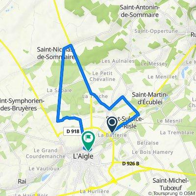 De 95–123 Chemin de la Batterie, Saint-Sulpice-sur-Risle à 51 Rue Saint-Barthélémy, L'Aigle