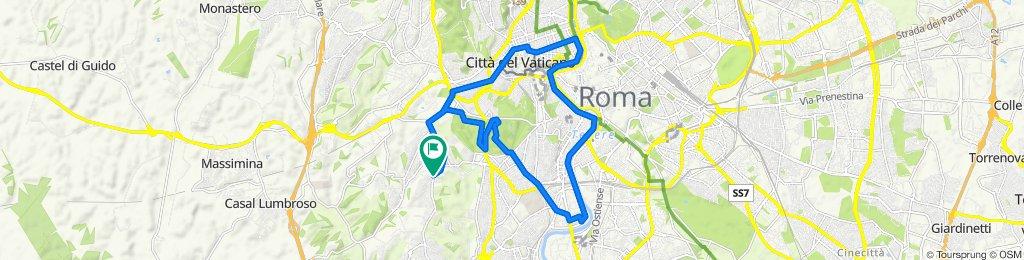 Da Via di Bravetta Roma ad anello