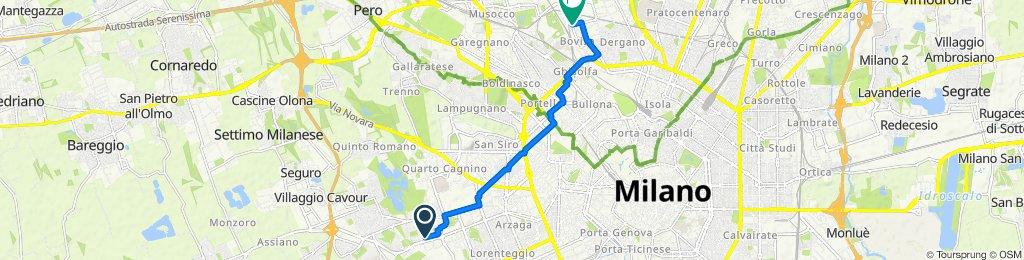 De Via Lucca 36, Milano a Via Enrico Cosenz 81, Milano