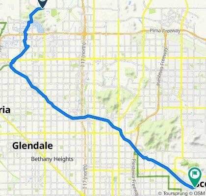 5104 W Pinnacle Peak Rd, Phoenix to 5802 E Indian School Rd, Phoenix