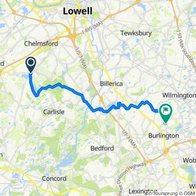 36–98 Pond St, Chelmsford to 94–102 Mill St, Burlington