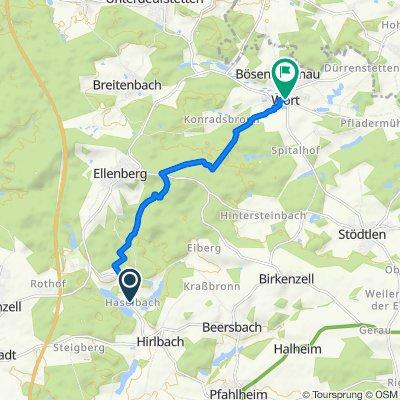 Haselbach 4, Ellenberg nach L1070 104, Wört