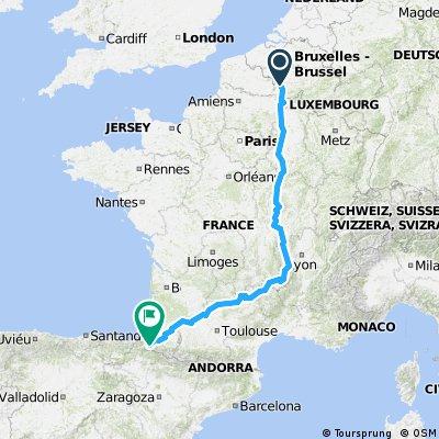 0012 Mariehamn - Santiago de Compostela Part 4 France