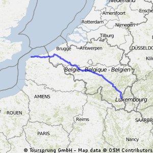 Calais to Martelange