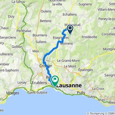Itinéraire vers Route de Chavannes, Lausanne