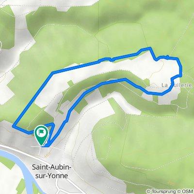 De 4 Chemin de la Ferrante, Saint-Aubin-sur-Yonne à 6 Chemin de la Ferrante, Saint-Aubin-sur-Yonne