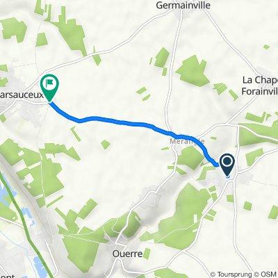 De 1–6 Place de la Libération, Ouerre à 108E Les Marchais, Mézières-en-Drouais