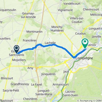De 1–3 Impasse du Presbytère, Estrées-Saint-Denis à 8 Rue René Marsigny, Margny-lès-Compiègne