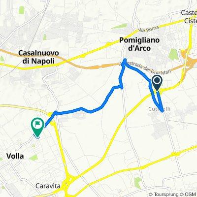 Da SS162dir, Sant'Anastasia a Via Monteoliveto 19/B, Volla