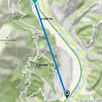 De 123–275 1ère Avenue, Carros à Parc Départemental du Lac du Broc, Le Broc