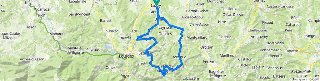 De Rue des Pyrénées 3, Louey à Chemin de Balabay 1, Louey