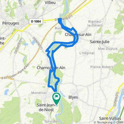 Parcours St Jean - Charnoz - Chazey
