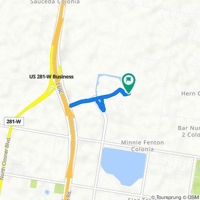 Route from Burns Boulevard 1996, Edinburg