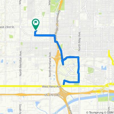 4105 NW 21st St, Oklahoma City to 4105 NW 21st St, Oklahoma City