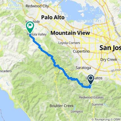 1. Bay Area Ridge Trail Lexington to 84