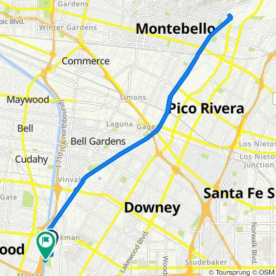 Route from 11351 Idaho Ave, South Gate