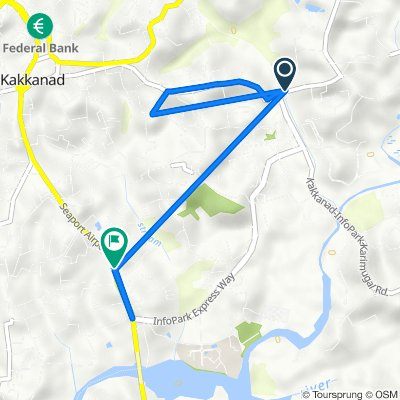 Route from Infopark Road 9-418-A3, Kochi