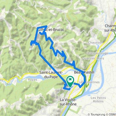 De Montée des Sources 1, La Voulte-sur-Rhône à Montée des Sources 1, La Voulte-sur-Rhône