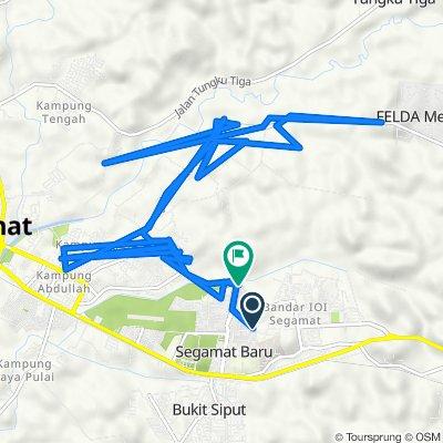 Jalan Putra 2/14 2, Segamat to Jalan Kenawar Utama 1, Segamat