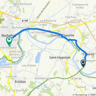 Itinéraire vers 3 Rue Jeanne d'Arc, Rochefort