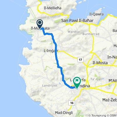 Triq il-Biedja, Mellieha to Triq Santa Rita, Rabat-Malta